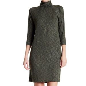 NWT Bobeau Petite Green Turtleneck Dress Size SP